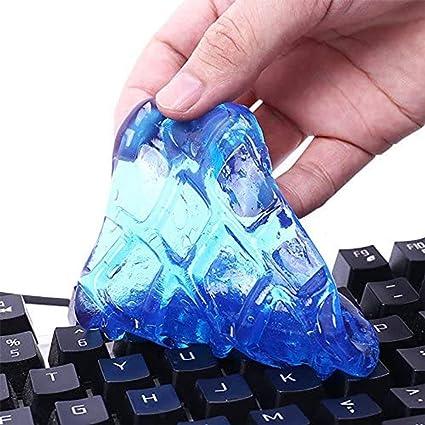 3Pcs Limpiador de polvo mágico reutilizable para los teclados, la PC, los teléfonos móviles, las computadoras, la ventilación de aire del coche (color ...
