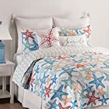 C&F Home Kalani Quilt Set, King, Blue