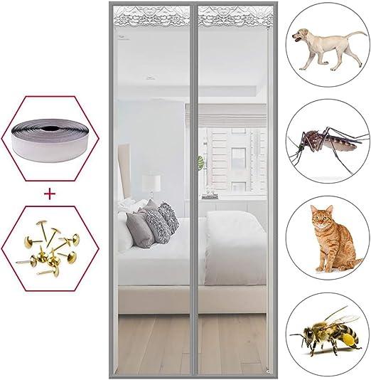 MEIDEL Cortina magnética 85x220cm(33x87inch) Evita Paso Insectos Mosquitera Puertas Magnético Automático Puerta Corredera Patio, Gray A: Amazon.es: Hogar