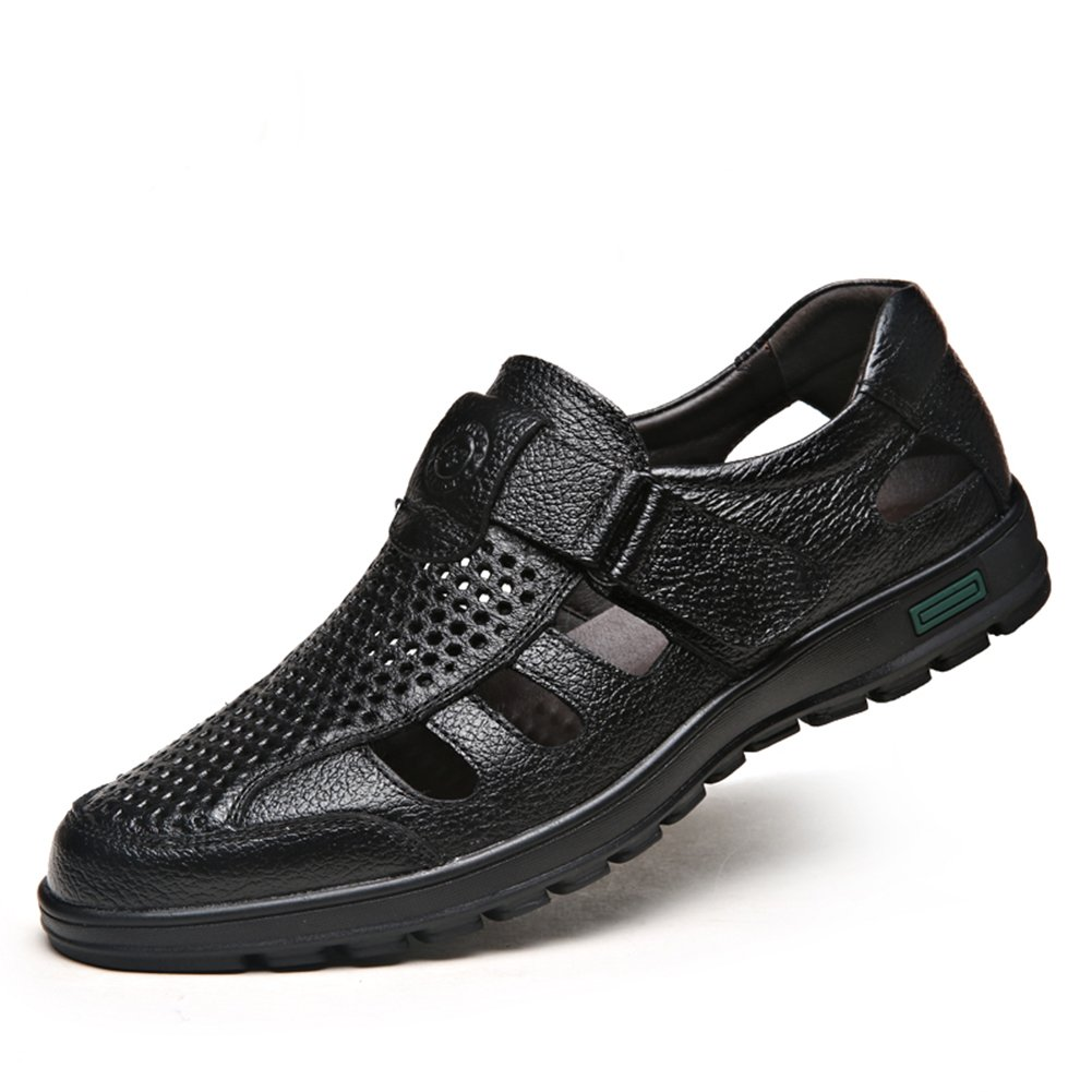 CMM Mens Summer Shoes Mesh Business Sandals Outdoor Black 7in