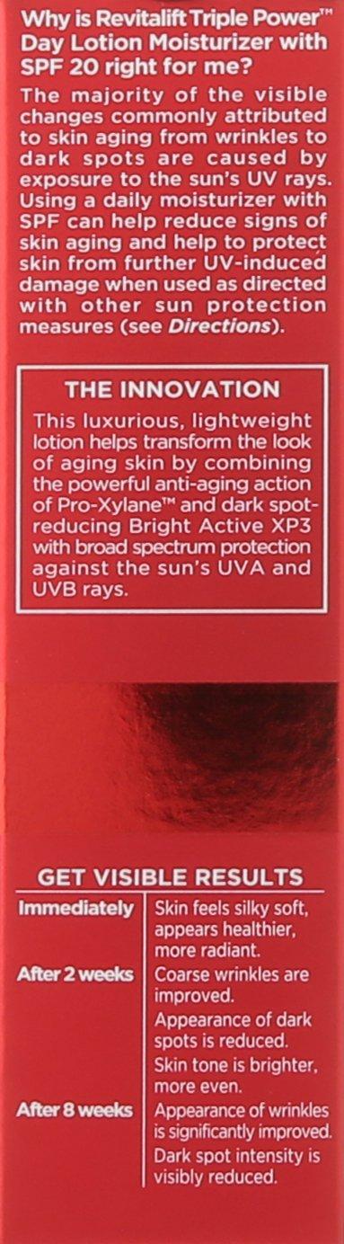 L'Oréal Paris Skin Care Revitalift Triple Power Face Moisturizer with SPF 20, 1.7 fl. Oz by L'Oreal Paris
