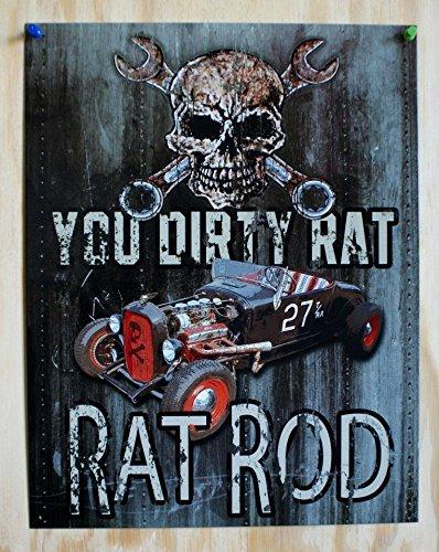 Skull Rat (Legends - Dirty Rat Metal Tin Sign)