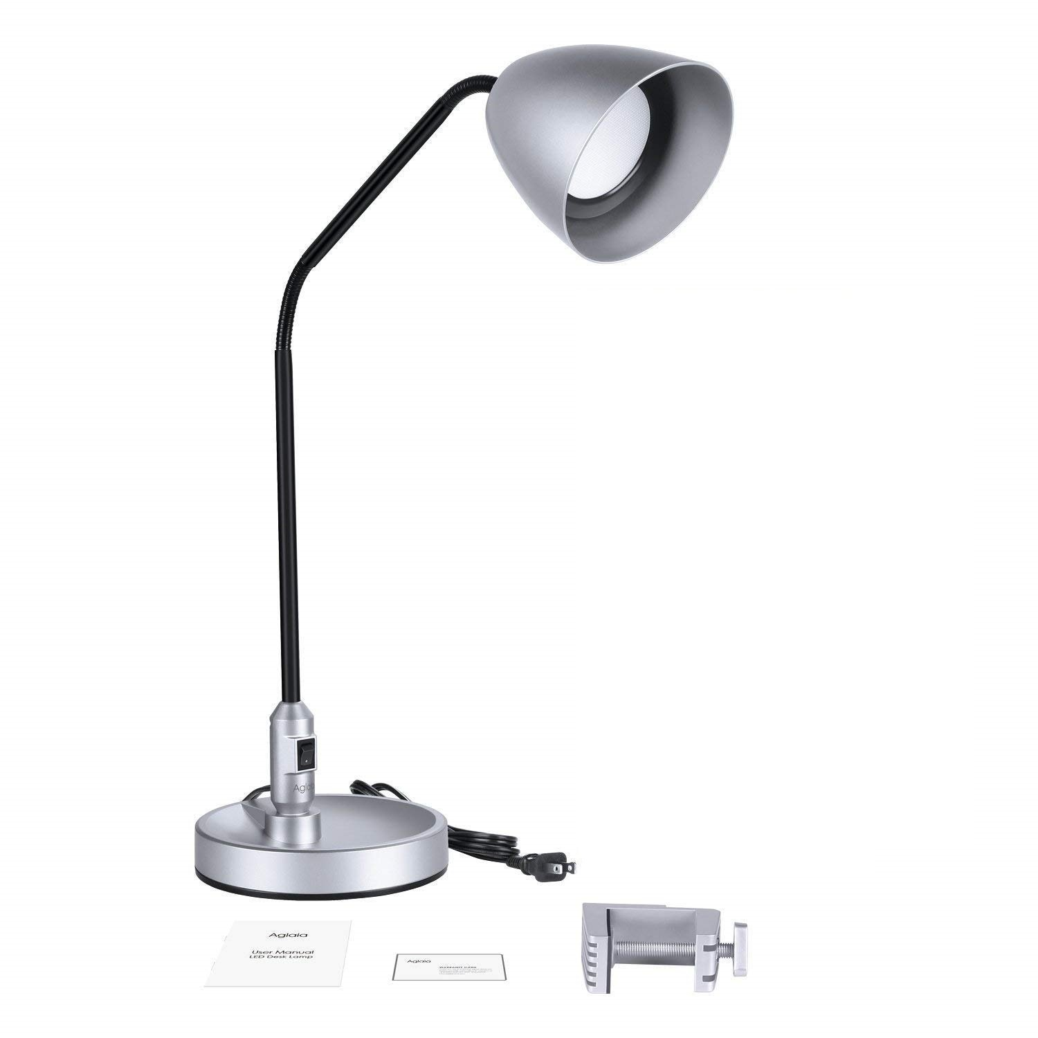 Aglaia LED Desk Lamp, Eye-Care Dimmable Reading Lamp, 6 Level Dimmer, 1-Hour Timer, Touch Sensitive Control, Flexible Gooseneck for Office Study Dorm LT-T4