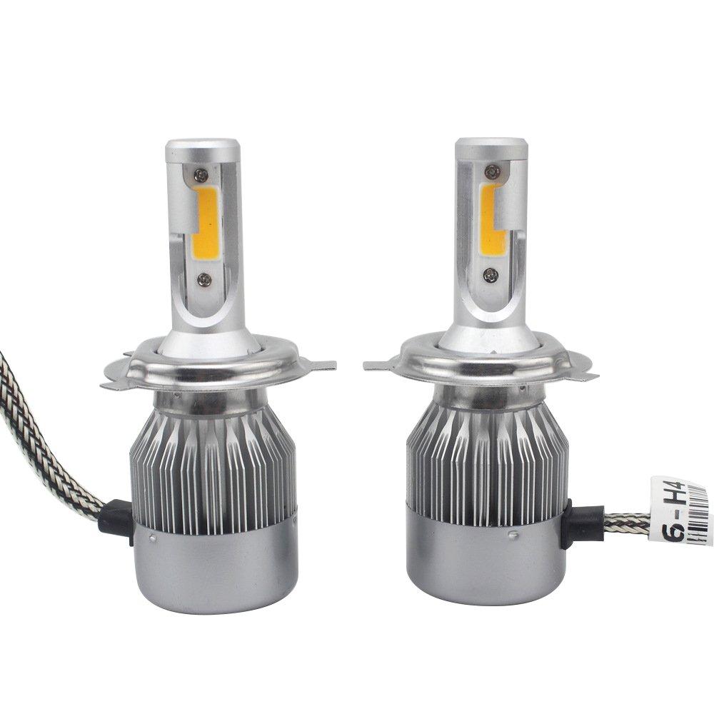2 pz auto LED faro, Gogo Roadless 60 W 3800LM H4 6000 K LED faro lampadina Kits, chip COB/interno driver, durata 50000 ore H4 faro lampadine