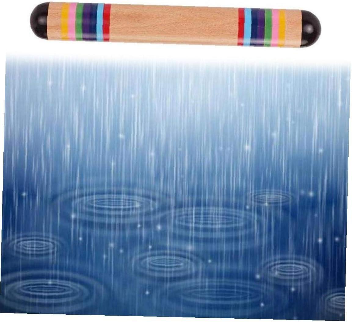 ni/ños Sanfiyya Palo de Agua de Madera de Madera Fabricante de Rainmaker Palo de Lluvia Instrumentos Musicales Juguetes para beb/és ni/ño Deportes y Fitness