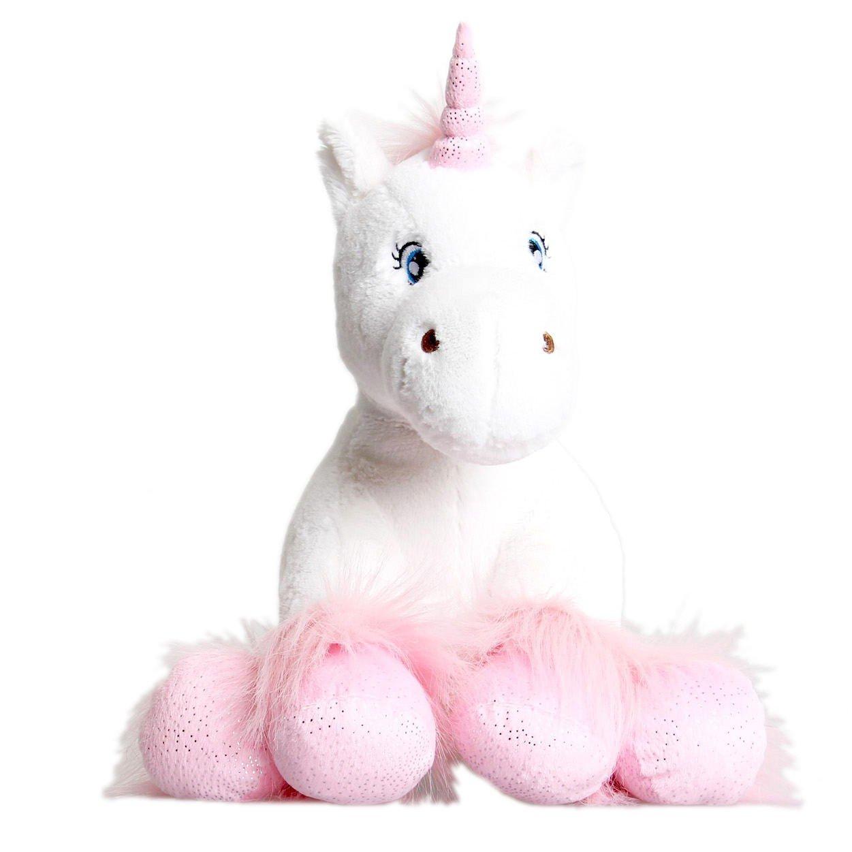 Blanco Unicornio con brillante Pezuñas Oso De Peluche 40.6cm (40cm ...