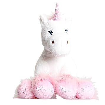 Blanco Unicornio con brillante Pezuñas Oso De Peluche 40.6cm (40cm) Construir Su Propia
