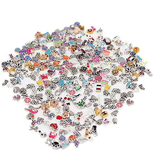 100PC Mixed Metal Floating Charm Random Style DIY Glass Living Memory Locket Lot For Memory Floating Locket