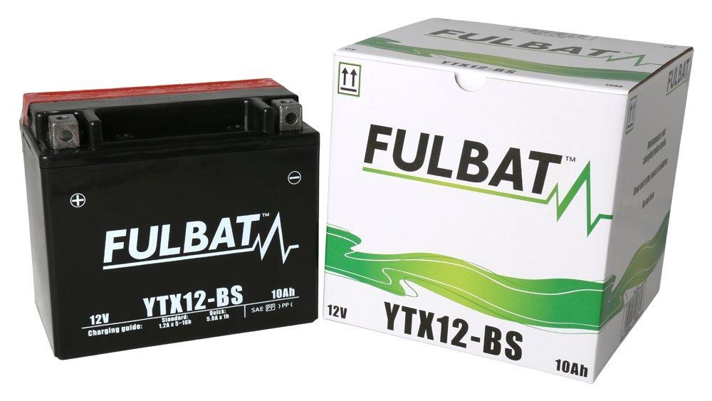 Batterie FULBAT AGM YTX12-BS 12V 10Ah 180A Longueur: 150 x Largeur: 87 x Hauteur: 130 (mm)