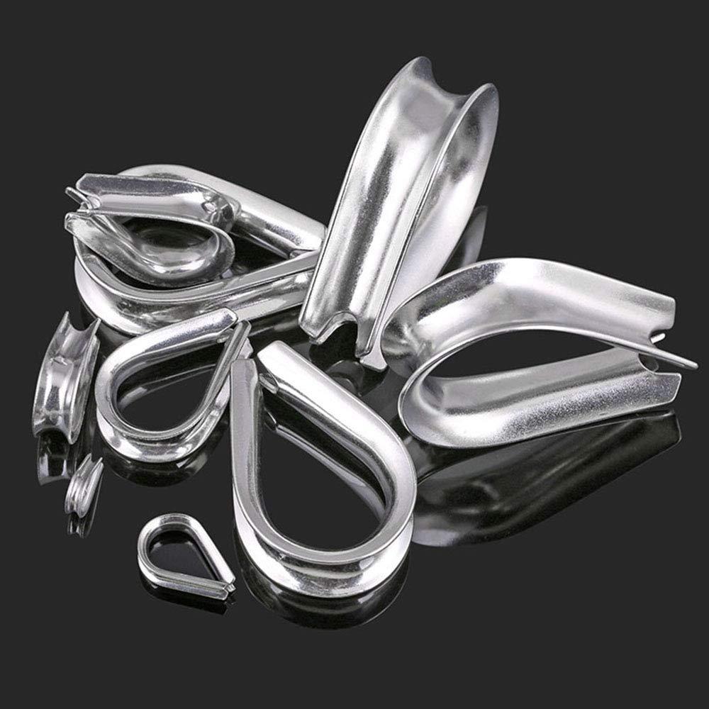 Dedal de acero inoxidable para protecci/ón de cable de cuerda M1.5-50PCS