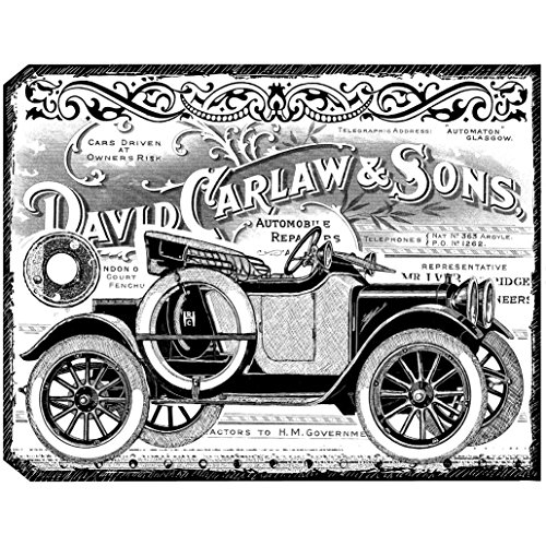 Crafty Individuals Unmounted Rubber Stamp, Chunky Vintage Car Tag