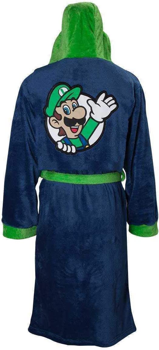 Oficial Super Mario Bros Luigi adulto bata albornoz - L-XXL ...