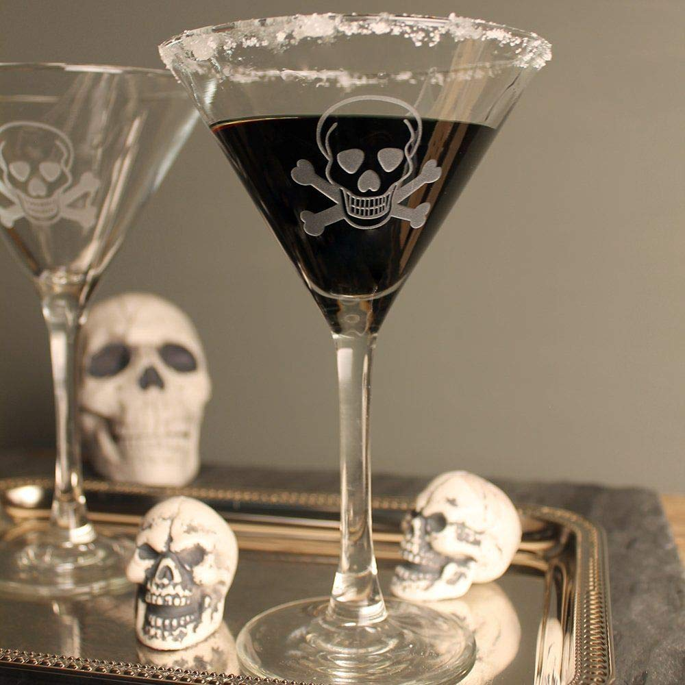 Rolf Glass Skull and Cross Bones Martini 10oz, Set of 4 Glasses by Rolf Glass (Image #1)