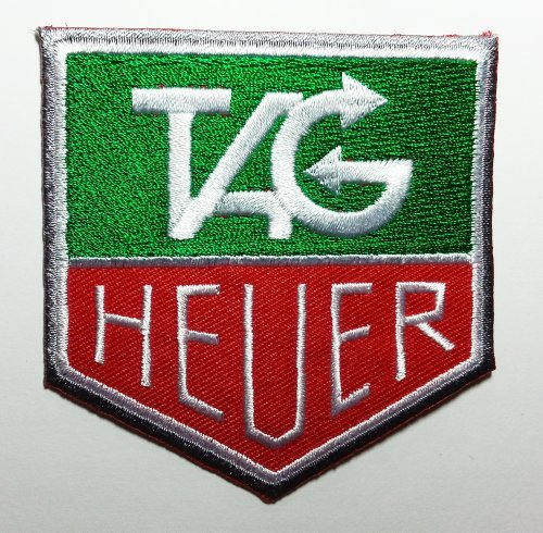 Hat Embroidered T-shirt (TAG Heuer Patches 7.3x7.5 Cm Iron on Patch / Embroidered Patch This Appliques Are Great for T-shirt, Hat, Jean ,Jacket, Backpacks.)