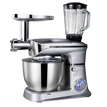 Amazon.com: WJSW Stand Mixer, 1300W Food Processor Blender,6 ...