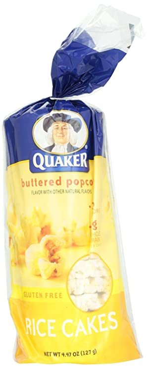 Quaker Rice Cakes Butter Popped Corn 4 5 Oz Pack Of 12 Amazon Com Grocery Gourmet Food