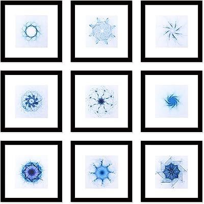 Amazon.com - Fused Murano Glass Photo Frame Color Fantasy in White ...