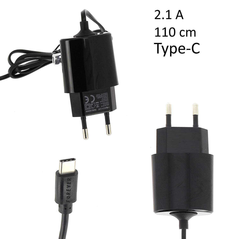 Cargador USB Tipo C 2.1A NEGRO Forever Cable Carga Cable ...