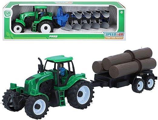 Tractor Con Remolque Speed And Go 5x21cm Surtido A Elegir 1