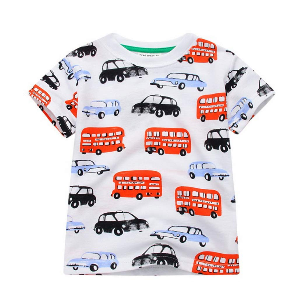 New Boys T Shirt Popular Style Cotton Short Sleeved T Shirt Printing Kidss Cartoon Gray Kids Boys Childs Clothes