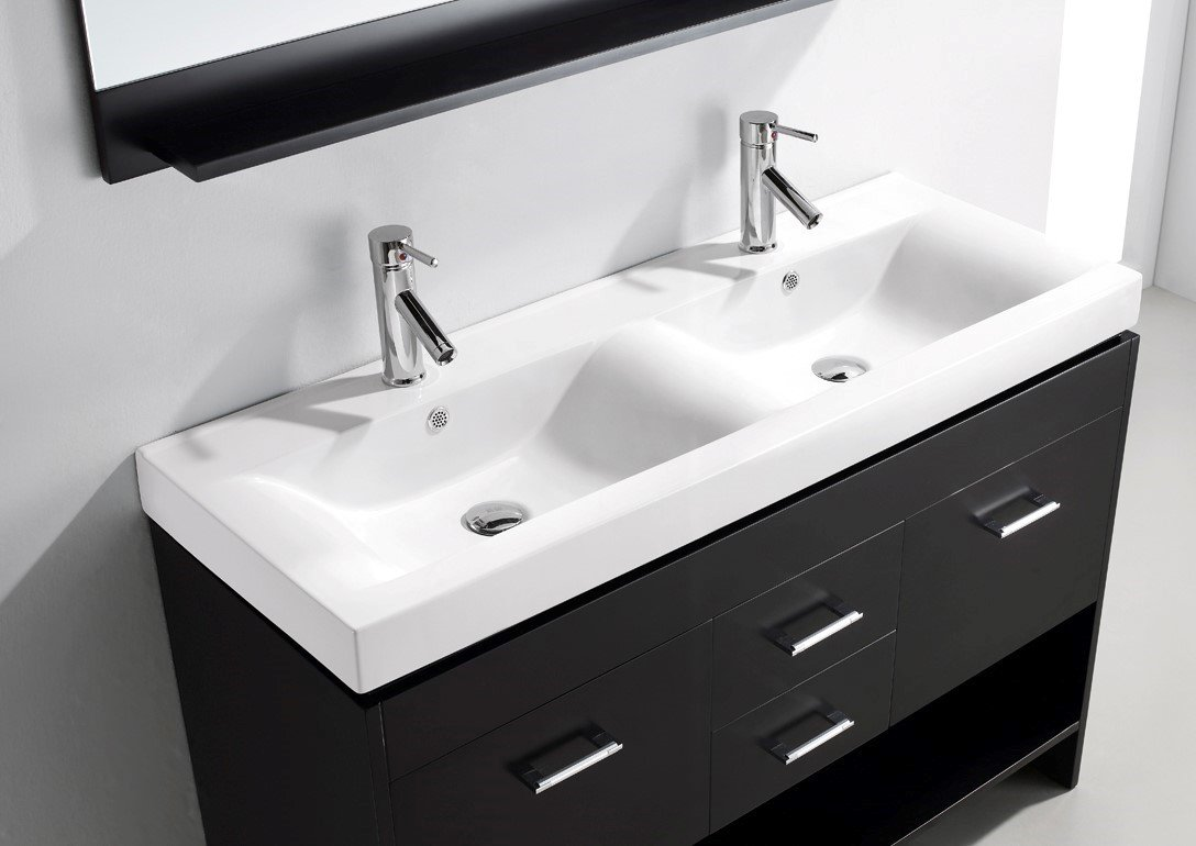Virtu USA MD 423 C ES Gloria 47 Inch Double Sink Bathroom Vanity Set,  Espresso Finish     Amazon.com