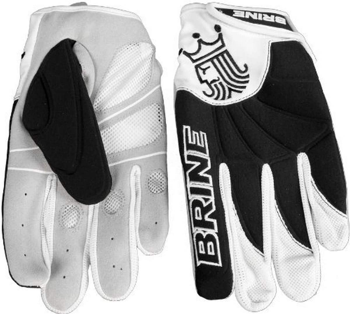 Brine Silhouette Compression Molded Lacrosse Warm Weather Glove (Large, Black) : Lacrosse Player Gloves : Sports & Outdoors