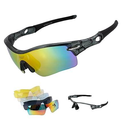 West ciclismo bicicleta Ciclismo gafas de sol polarizadas gafas running conducción Racing gafas de esquí con lente de 4 intercambiables Extra