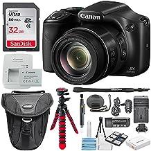Canon PowerShot SX530HS–Wi-Fi Cámara Digital Con Deluxe Accessory Bundle incluyendo 32GB tarjeta de memoria SDHC Class 10& lente Kit de limpieza + Batería Extra & AC/DC Turbo Cargador de viaje.