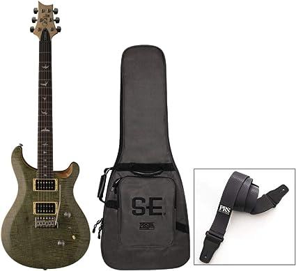 PRS SE Custom 24 Guitarra eléctrica (verde Trampas) con bolsa de ...