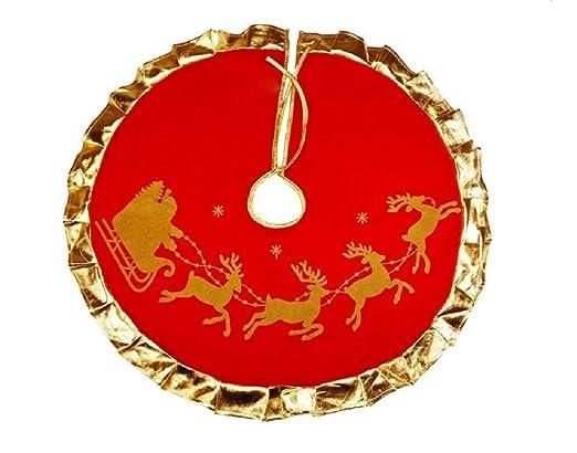 DMtse - Falda para árbol de Navidad con diseño de Papá Noel, color ...