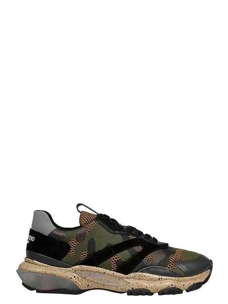Valentino Garavani Hombre RY2S0B05UDZY41 Verde Tela Zapatillas: Amazon.es: Zapatos y complementos