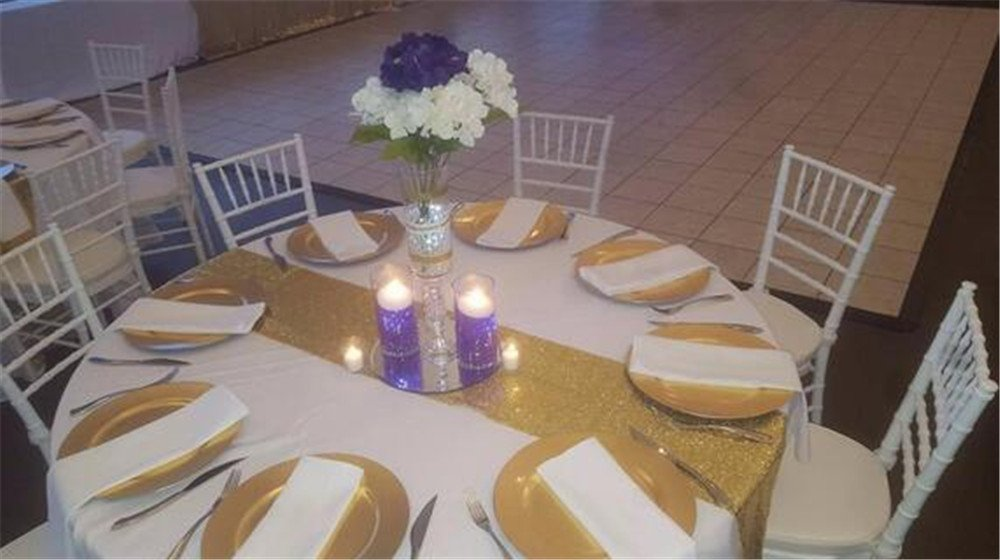 12x108 Sparkly Table Linens for Wedding 12x108 Sparkly Table Linens for Wedding 12x108 GFCC Sequin Purple Kitchen Tablerunners