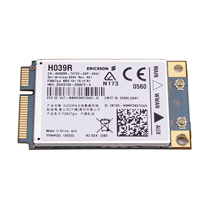 Dell Inspiron 1370 Notebook 5540 HSPA Mini Card Linux