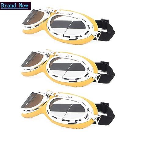 3f4aab3cda Jangona 3 Pack Motorcycle Goggles Men Retro Vintage Goggles Cruiser Sunglasses  Safety Glasses Eyewear for Harley