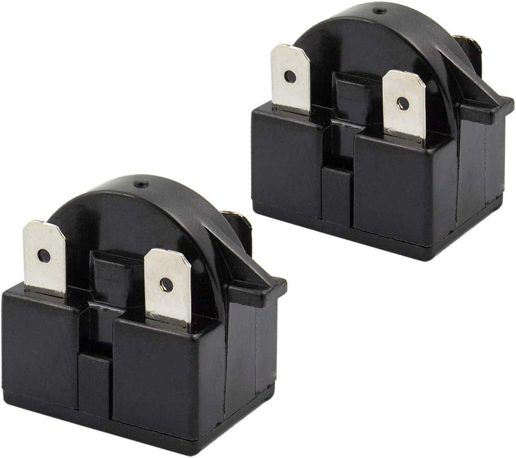 2 PCS QP2-4.7 Start Relay Refrigerator PTC Ohm 3 Pin For Vissani Danby EdgeStar Summit Haier Igloo etc Compressor