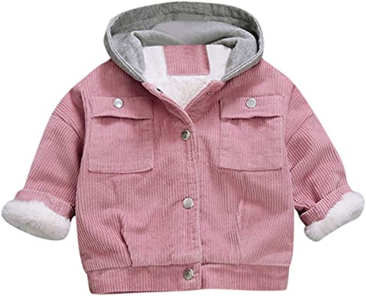 GorNorriss Baby Girl Coat Toddler Winter Cloak Jacket Thick Warm Outerwear Clothes