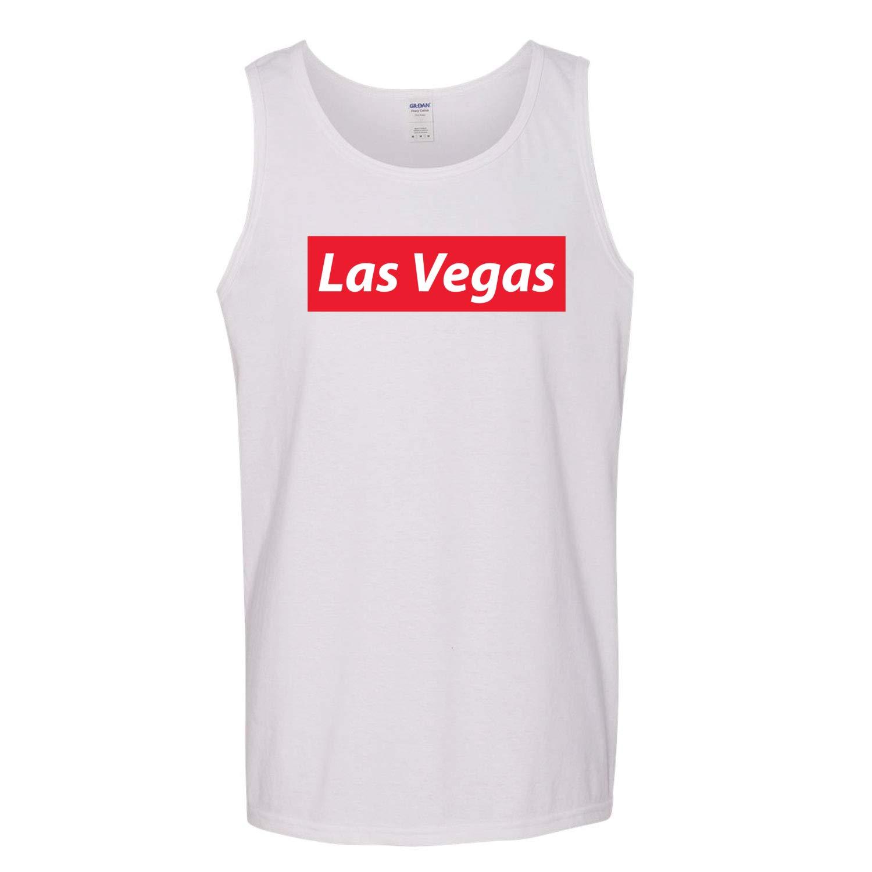 Red Box Logo Las Vegas City Pride Mens Graphic Tank Top