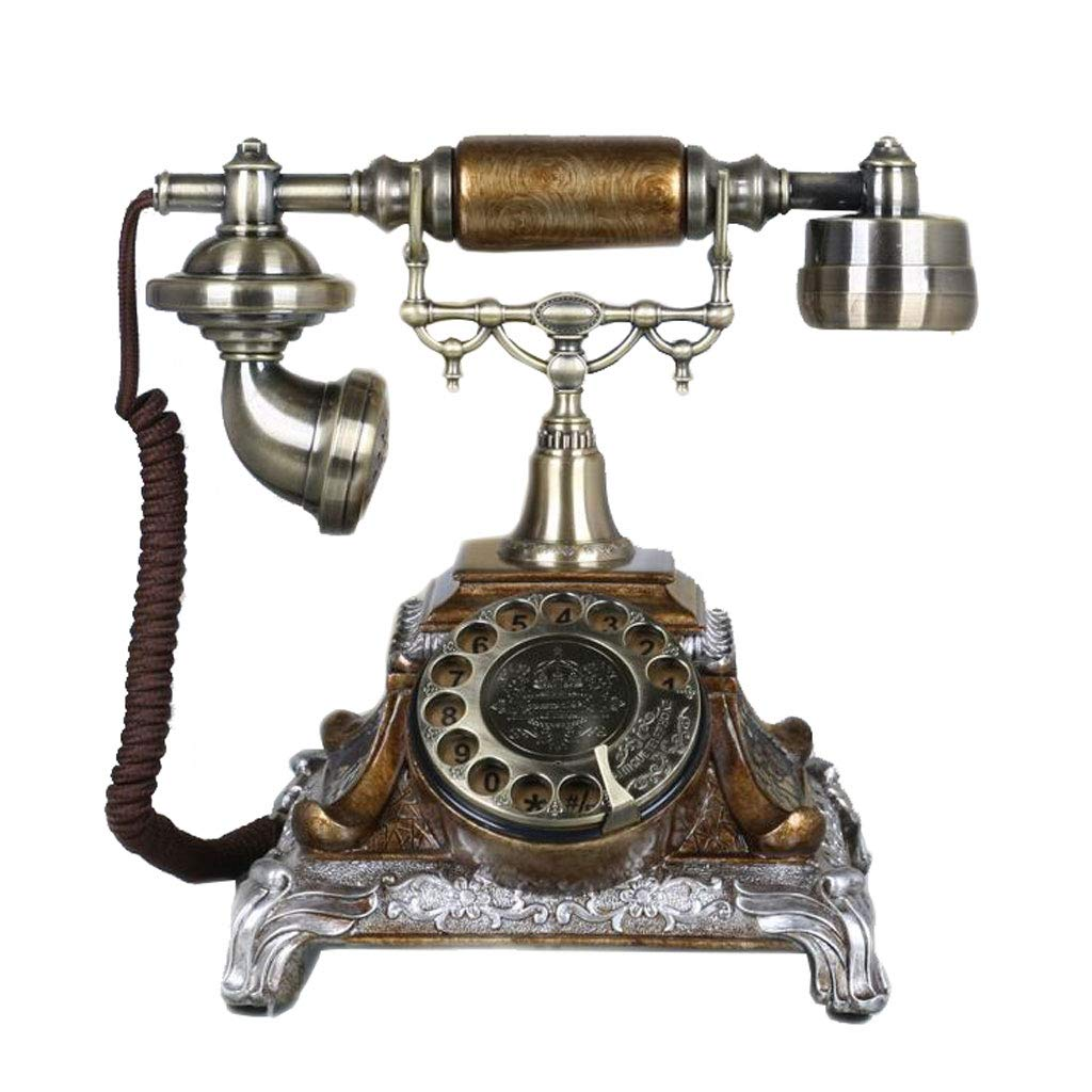 Teléfono Liuyu · Living Home Bronce Retro Phone Metal Fashion ...