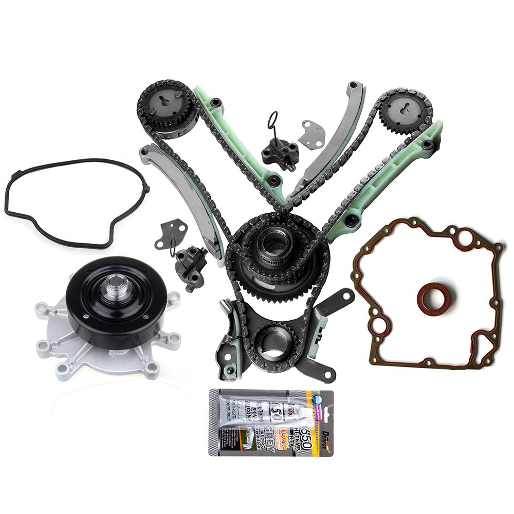 ECCPP Automotive Replacement Timing Parts with Water Pump For Dodge Ram Dakota Jeep 4.7L SOHC Timing Chain Kit Cover Gasket Set