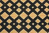 Home Garden Hardware 36510 Diamond Links 18x30'' Coir Doormat,Natural,Small