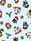 SheetWorld FLAT Crib / Toddler Sheet - Pirates - Made In USA