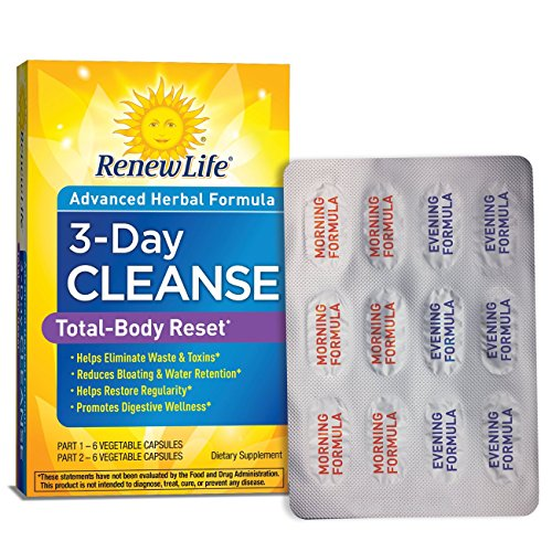 Renew Life – Total Body Reset – digestive detox and cleanse supplement – 3 day program