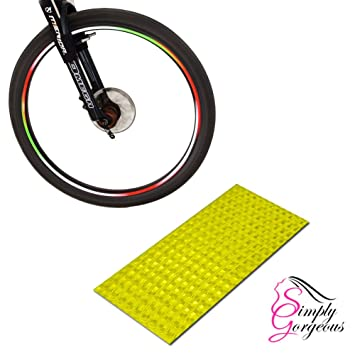Bicicleta BMX rueda de coche Rim pegatinas cinta reflectores, color dorado: Amazon.es: Deportes y aire libre