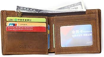 Men Organizer Wallet Vintage Crazy Horse Leather Cowhide Short Coin Wallet Purse