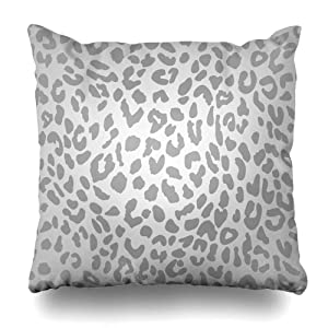 LILYMUA Leopard Grey Scale Leopard Snow Cheetah Gradient Abstract Zippered Pillow Cover, 18 x 18 Inch Square Decorativepillow Case Fashion Style Cushion Covers Two Sides Print