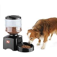 Anself - Dispensador de Comidas para Perros Mascotas, Programable y Automático, 5.5 Litros, con Temporizador y Alarma de Grabación de Voces