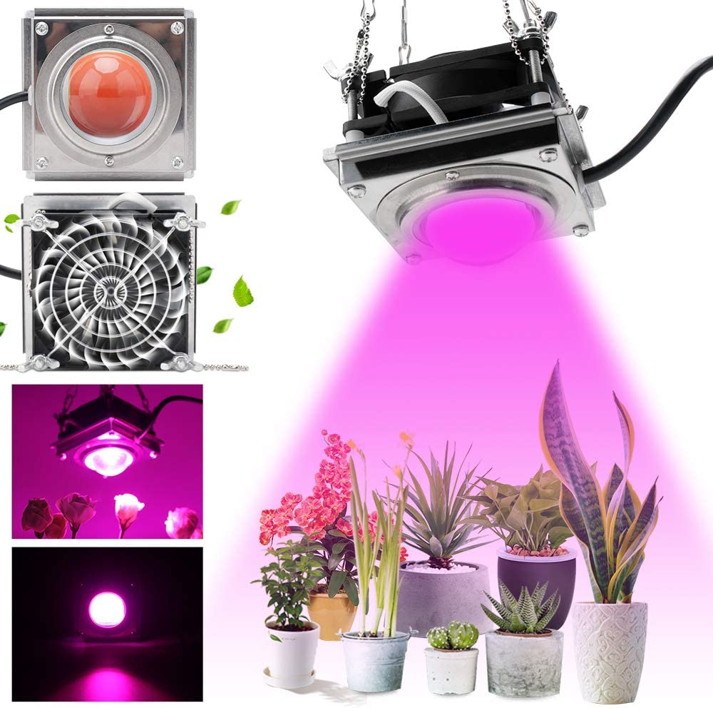 FrideMok Full Spectrum COB Grow Light,4000K 720W LED Plant Growing Light with Cooling Stronger Heat Dissipation Without Noise for Indoor Plants,Garden, Flowers, Vegetables, Greenhouse, Hydroponics