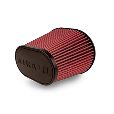 Airaid 720-472 Universal Clamp-On Air Filter: Oval Tapered; 6 Inch (152 mm) Flange ID; 9 Inch (229 mm) Height; 10.75 Inch x 7.75 Inch (273 mm x 197 mm) Base; 7.25 Inch x 4.25 Inch (184 mm x108 mm) Top: Automotive
