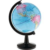 HOMYL Detailed World Globe for Desktop Decoration Geography Educational Kits 16cm - Blue