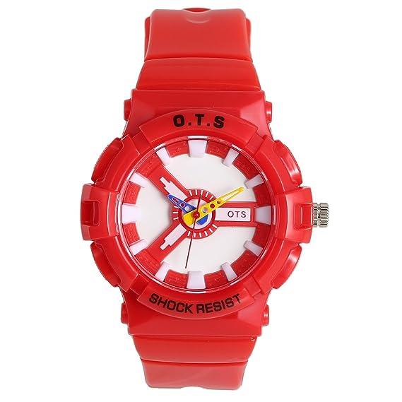 Panegy - Reloj Digital Analógico Deportivo para Niños niñas Estudiantes - rojo: Amazon.es: Relojes